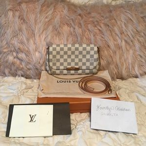EUC Louis Vuitton Damier Azur Favorite PM